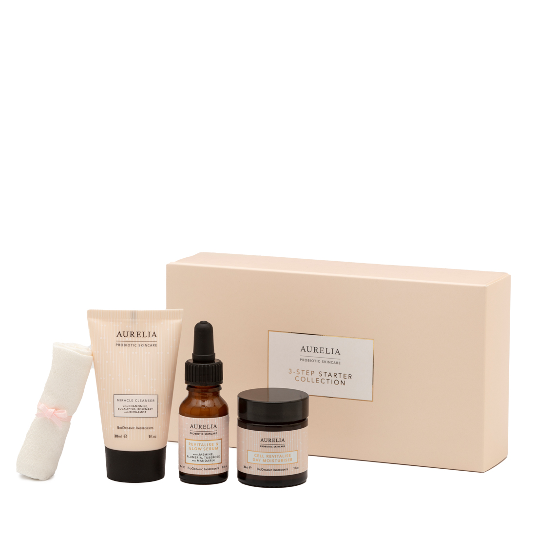 An image of 3 Step Starter Collection Aurelia London, 3 Step Probiotic Routine with Probioti...