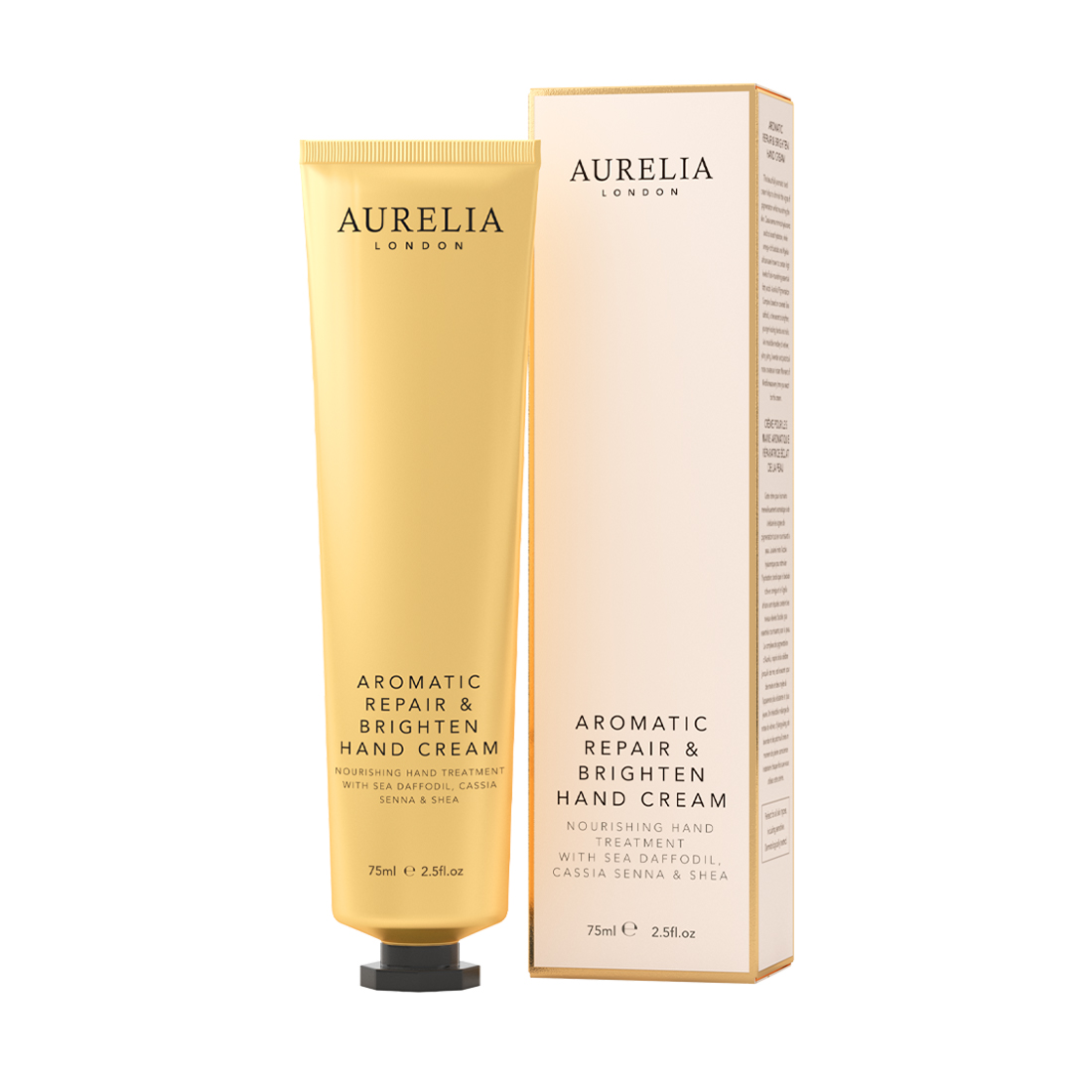An image of Aromatic Repair & Brighten Hand Cream 75ml Aurelia London