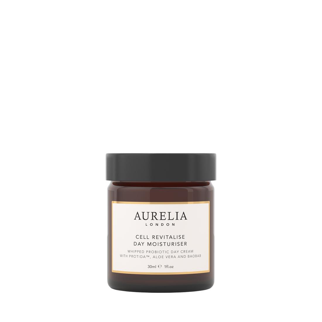 An image of Cell Revitalise Day Moisturiser Travel Size 30ml Aurelia London, Probiotic moist...