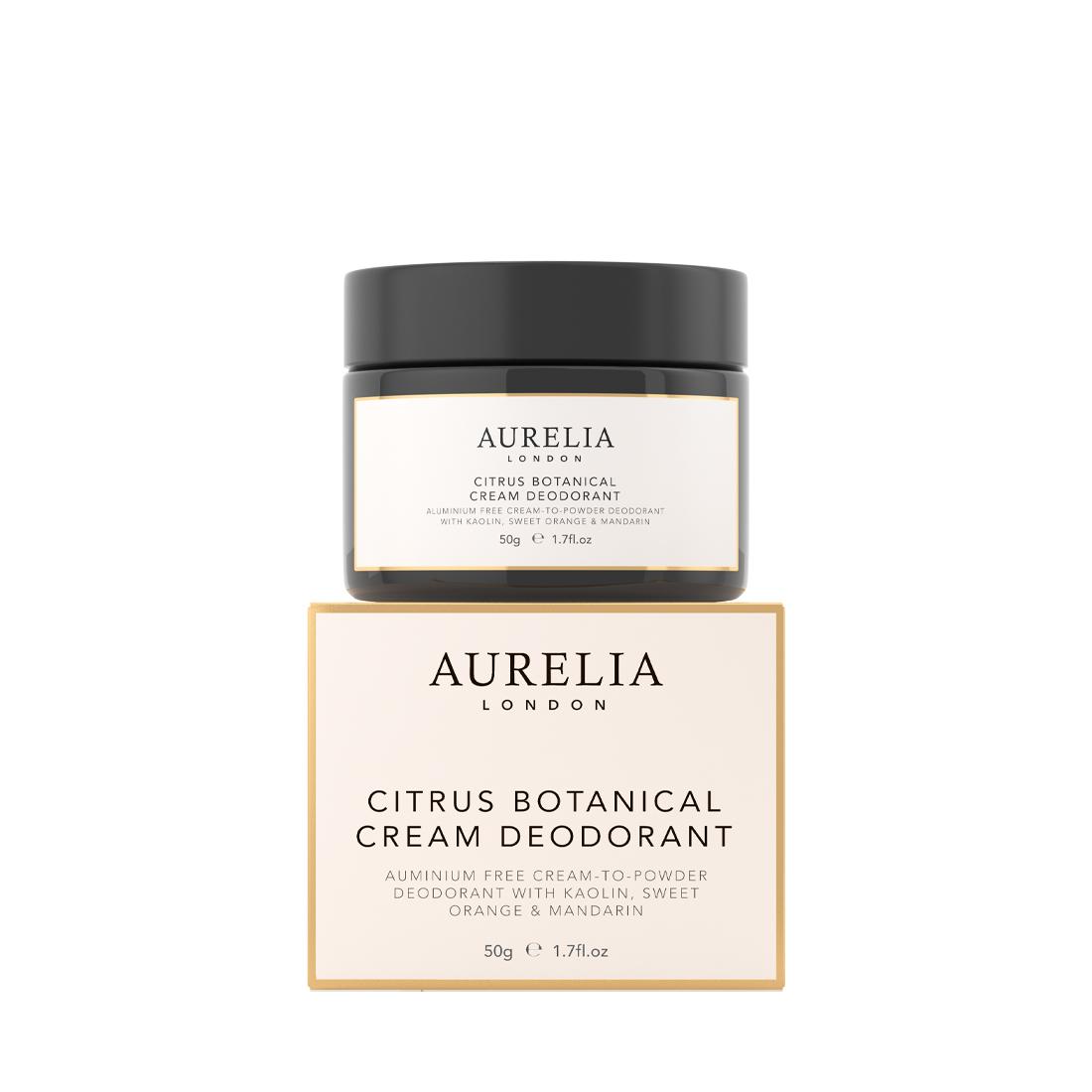 An image of Citrus Botanical Cream Deodorant 50g Aurelia London, Vegan & aluminium free natu...