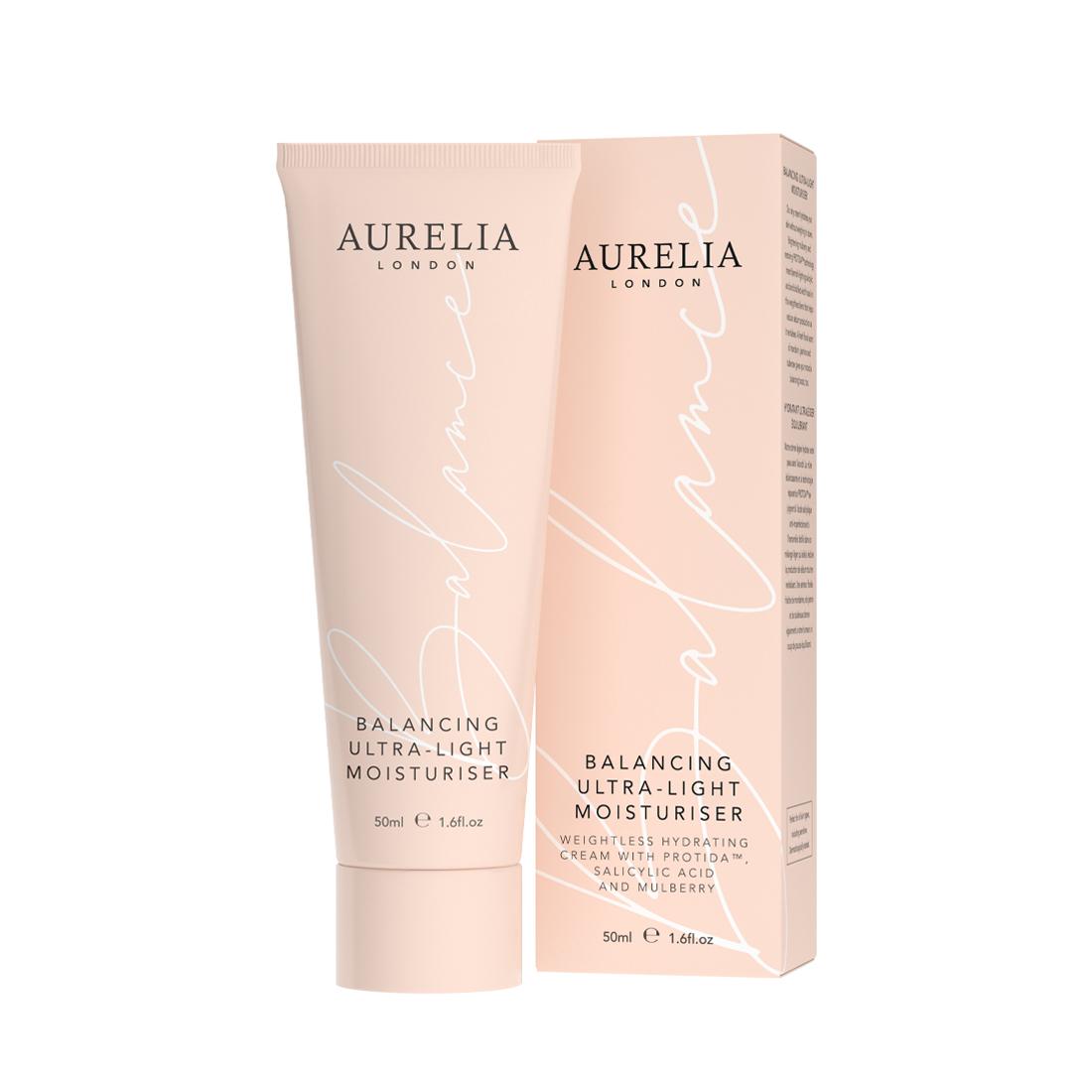 An image of Balancing Ultra-Light Moisturiser 50ml Aurelia London, Probiotic moisturiser for...