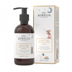 240ml Little Aurelia Sleep Time Top to Toe Wash with box