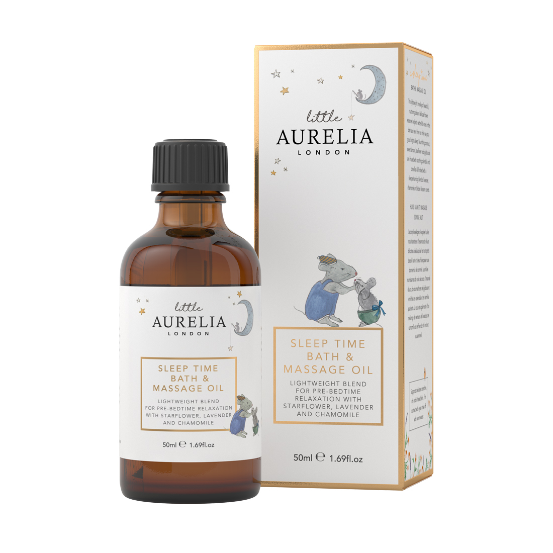 An image of Sleep Time Bath & Massage Oil for Babies 50ml Little Aurelia