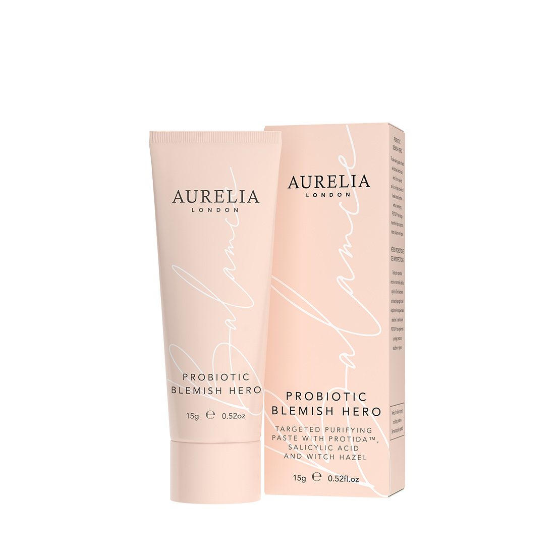 An image of Probiotic Blemish Hero 15ml Aurelia London, spot cream paste with salicylic acid